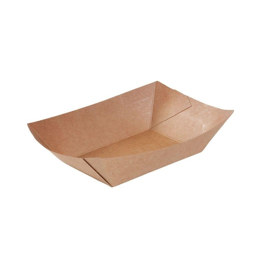 Karton-Snack-Schalen 400 ml, braun