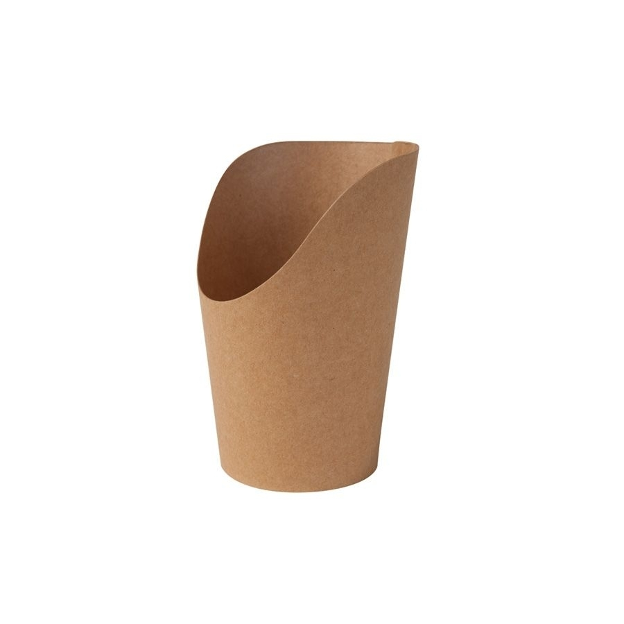 Karton-Wrap-Becher 300 ml, braun, PLA-beschichtet