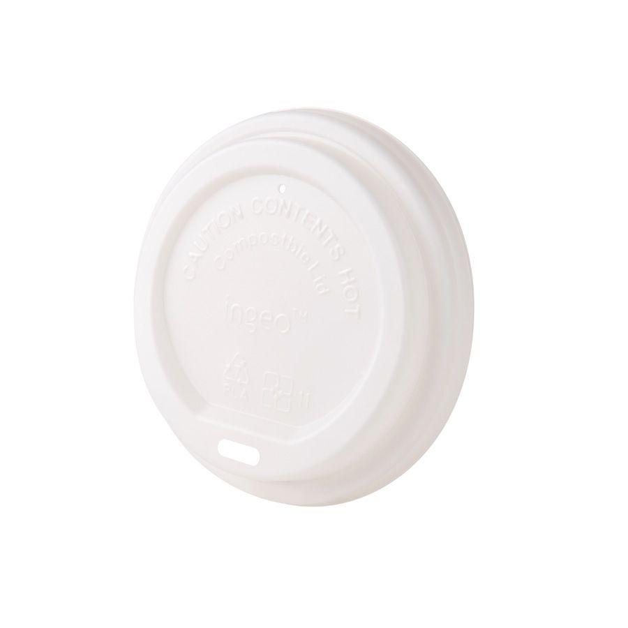 CPLA-Deckel Ø 90 mm, weiß, Trinköffnung