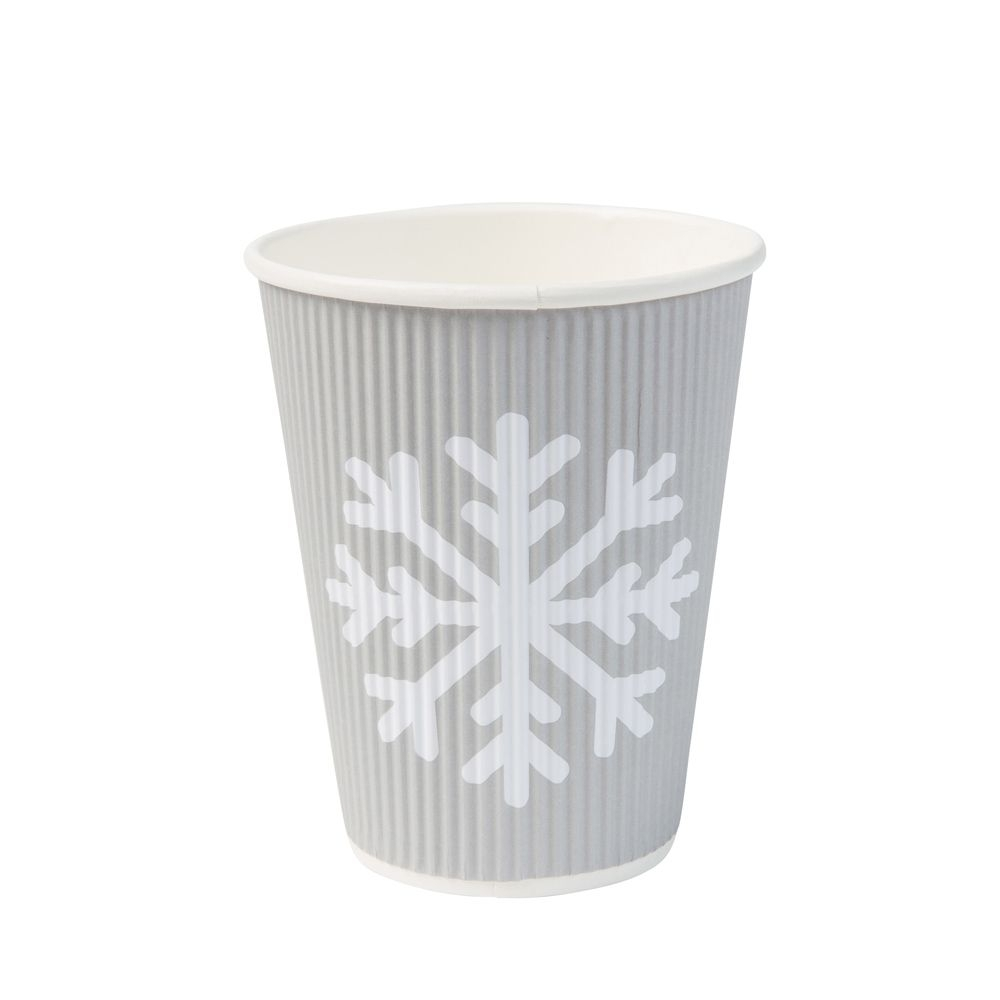 "Riffelbecher ""Winter"" 300 ml / 12 oz, Ø 90 mm, grau"