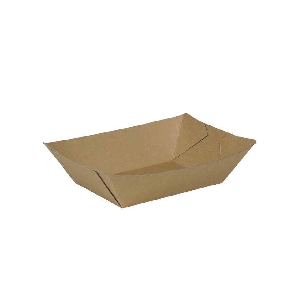 Karton-Snack-Schalen 400 ml, braun, Recyclingkarton