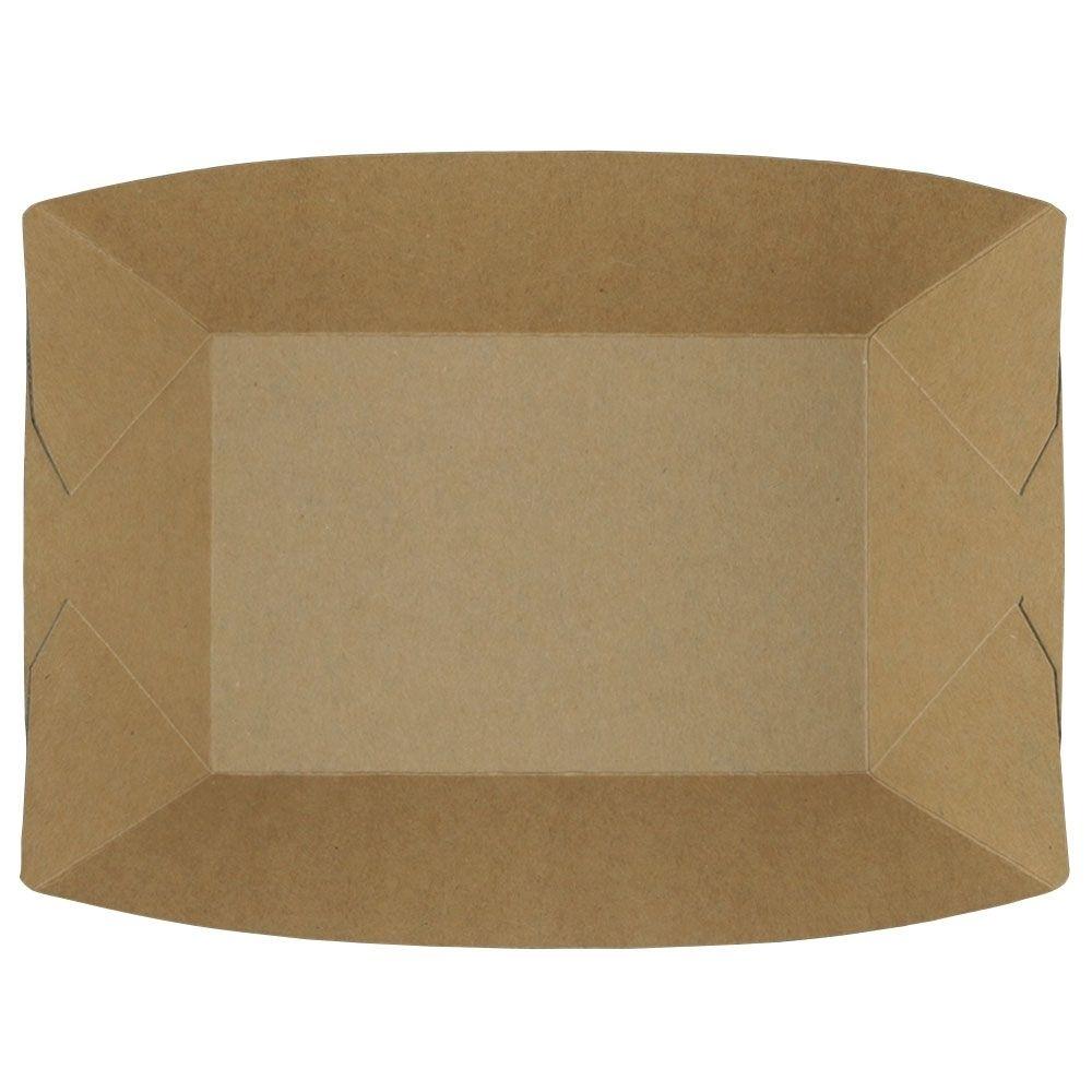 Karton-Snack-Schalen 800 ml, braun, Recyclingkarton