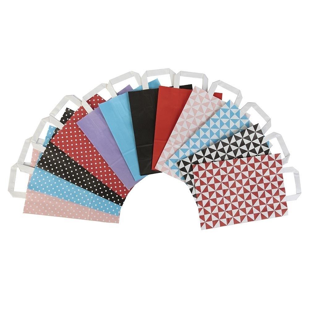 Kraftpapier-Tragetaschen L, 32 x 12 x 40 cm, Trigon schwarz