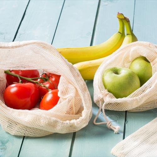 Obst- & Gemüse-Netze aus Baumwolle