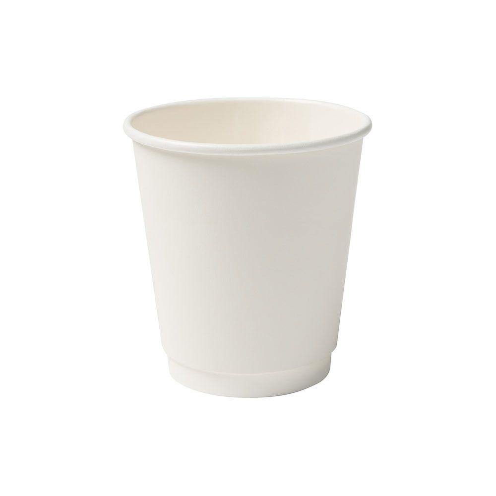 Pappbecher doppelwandig, 200 ml / 8 oz, Ø 80 mm, weiß