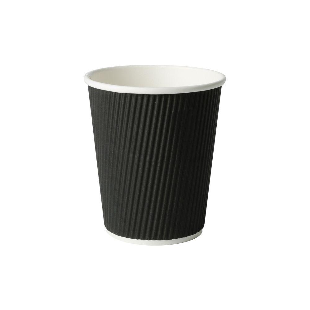 Riffelbecher 200 ml / 8 oz, Ø 80 mm, schwarz