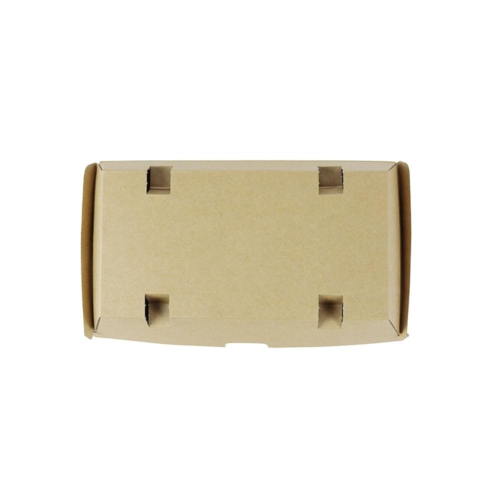 Take-away-Klappdeckel-Boxen 21,4 x 11,4 x 8,5 cm, Kraftkarton, braun