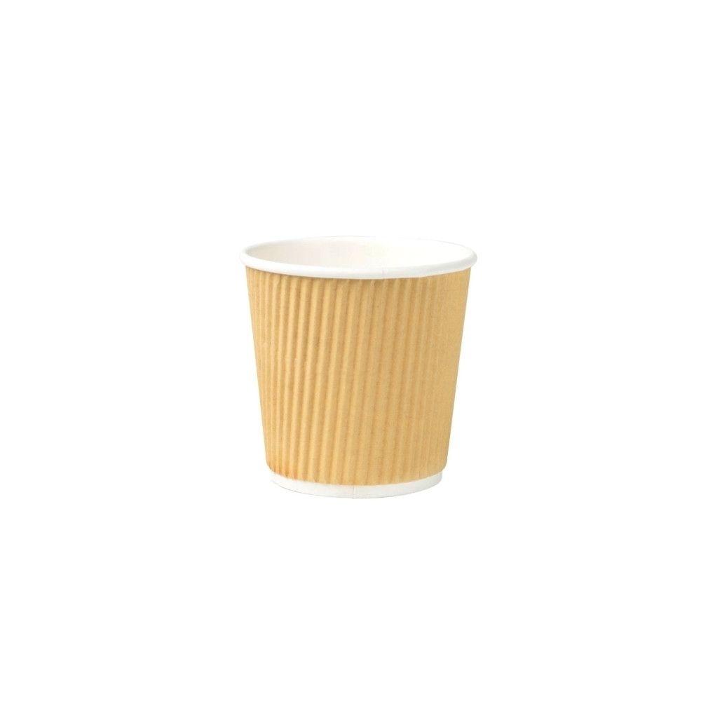 Riffelbecher 100 ml / 4 oz, Ø 62 mm, braun