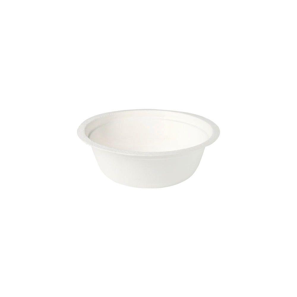 Zuckerrohr-Schalen 300 ml, rund, weiß
