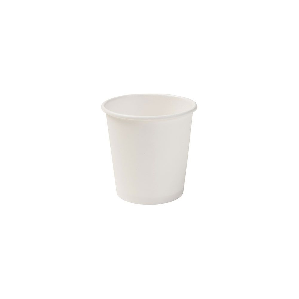 Pappbecher 100 ml / 4 oz, Ø 62 mm, weiß