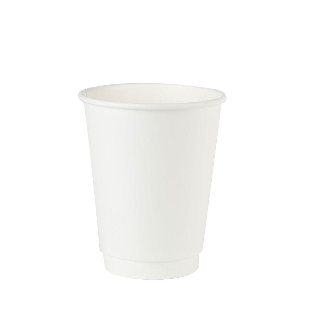 Pappbecher doppelwandig, 300 ml / 12 oz, Ø 90 mm, weiß