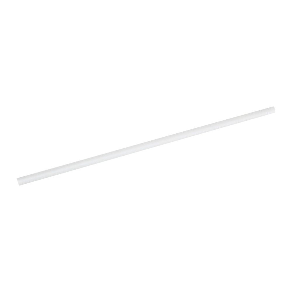 PLA-Trinkhalme 21 cm, Ø 0,6 cm, weiß