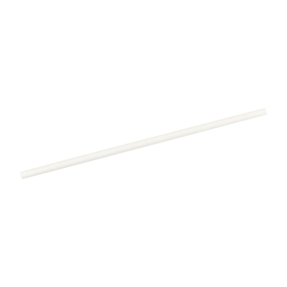 PLA-Jumbo-Trinkhalme 25 cm, Ø 0,8 cm, weiß