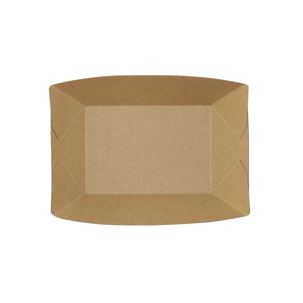 Premium-Karton-Snack-Schalen 400 ml, braun, bio-beschichtet